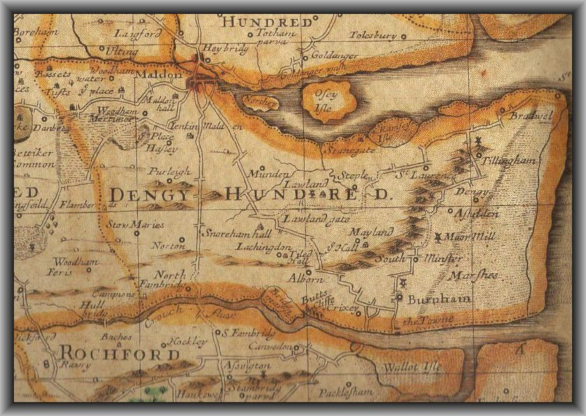 The Dengie 100 Historic Map