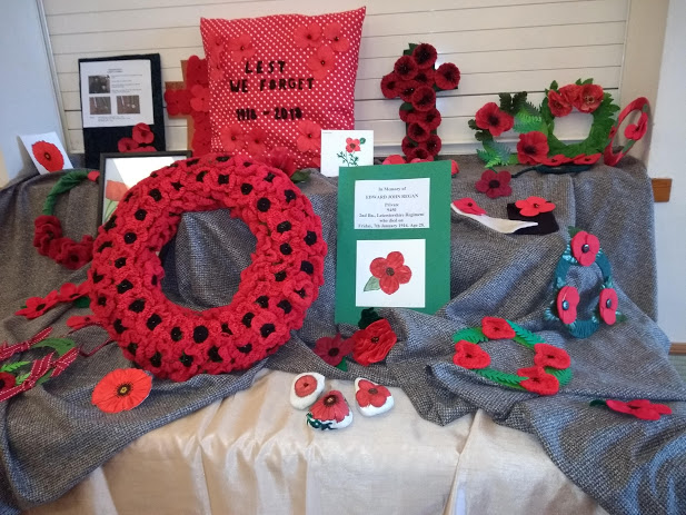 Poppies made by Creative Crafts members