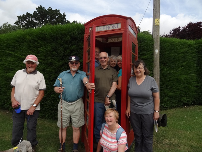 Monthly walkers near Billingford