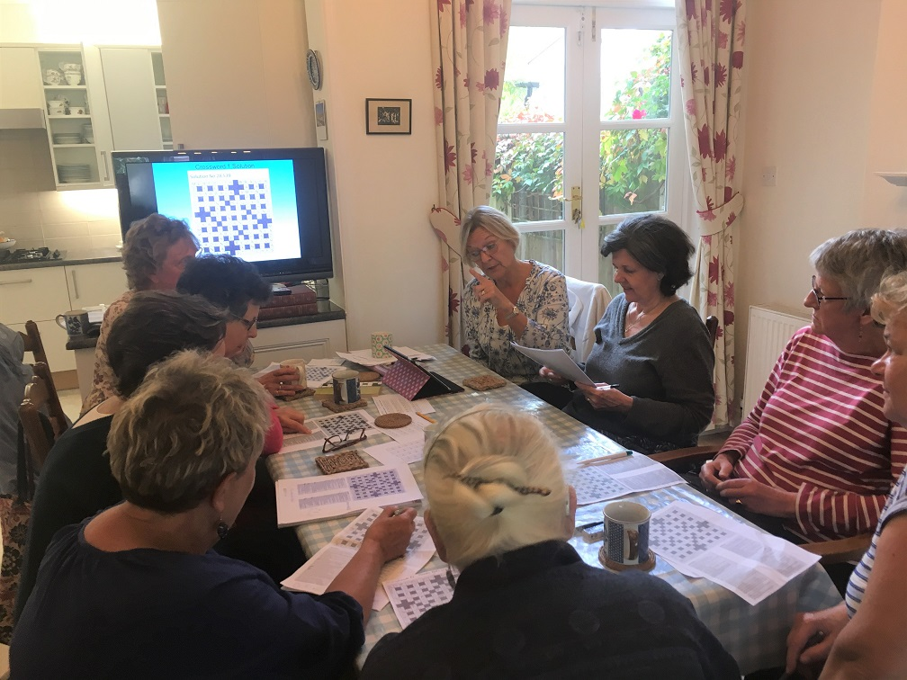 Inaugural meeting- Crossword group