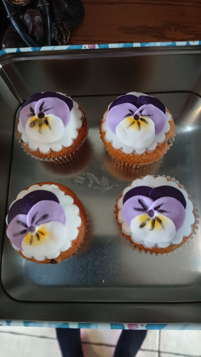 Viola cupcakes, Made in the March meetin