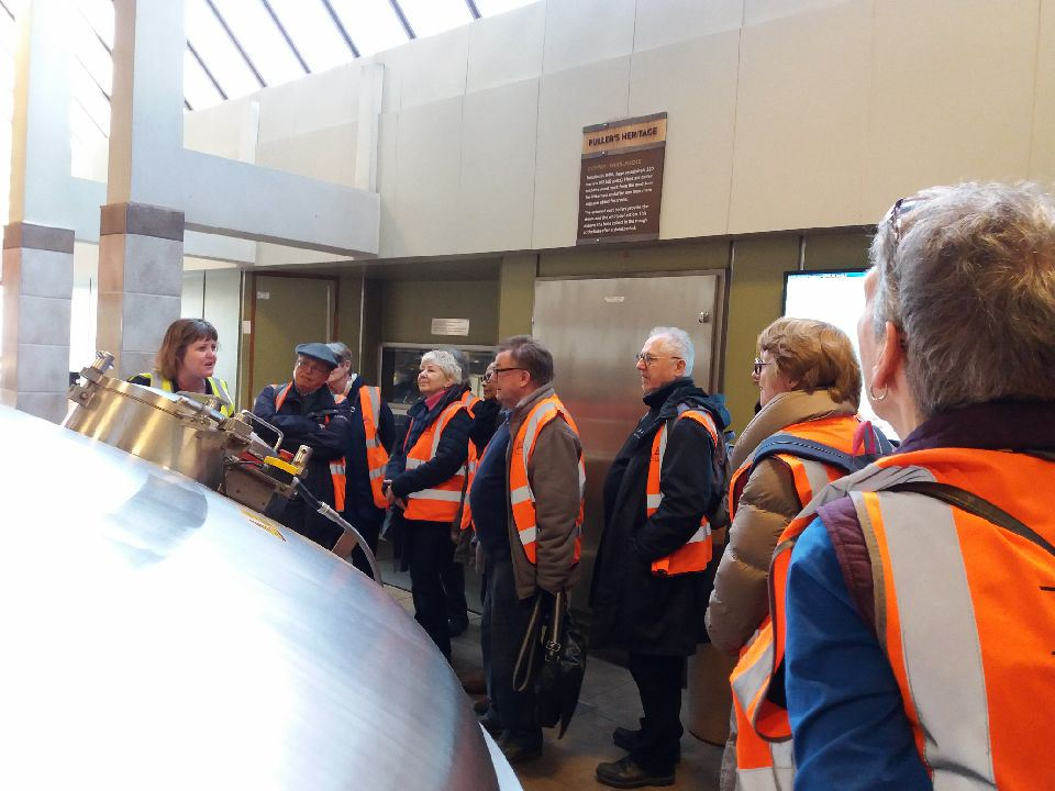 Beer group visit to Fullers Brewery