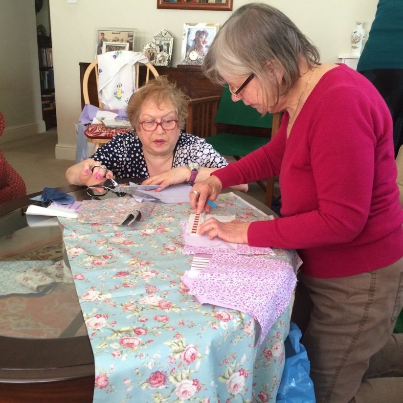 The Crafts Group - two members at work