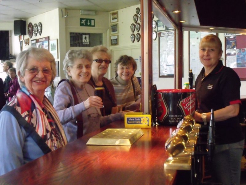 Jubilee lunch - at the bar