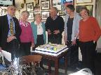 Jubilee lunch - Chairpersons with cake