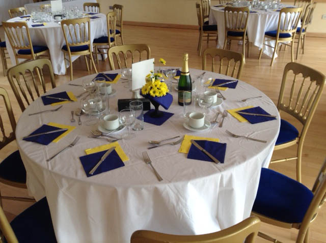 Table settings for the Anniversary Lunch