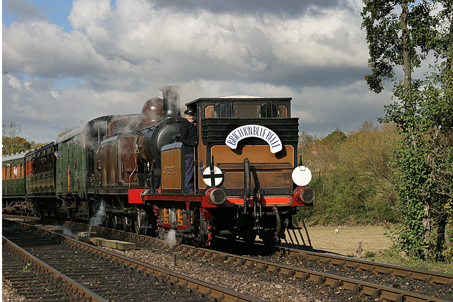 The famous Bluebell Railway