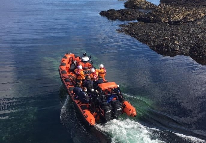 St Abbs Lifeboat in action