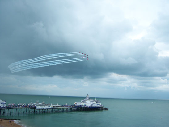 The Red Arrows over Eastbourne