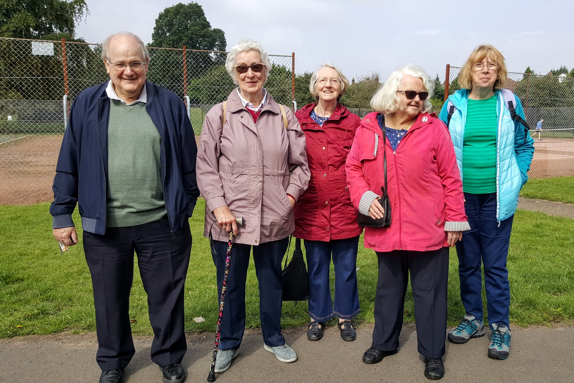 Some of the group at Newlands Park