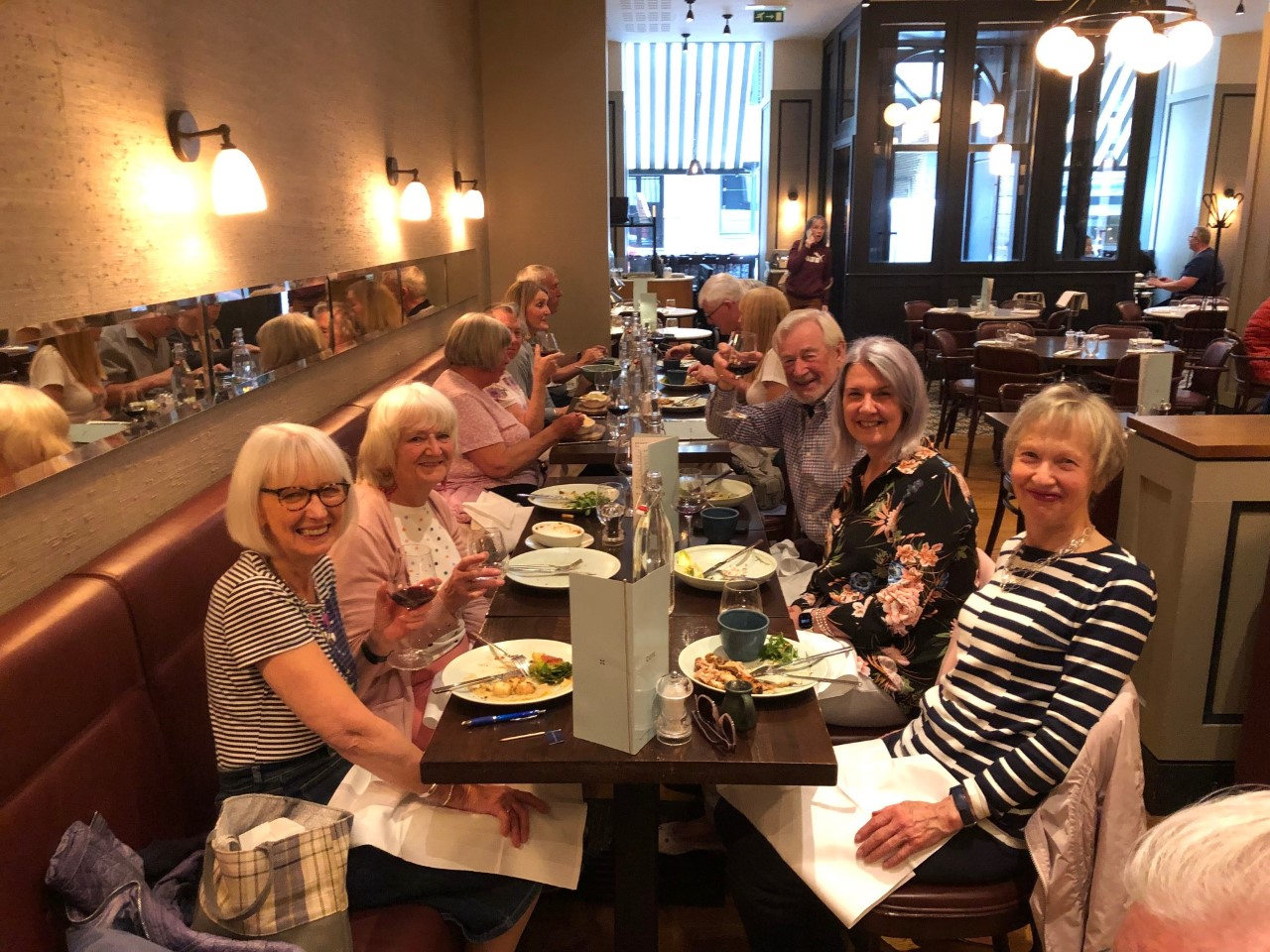 2020 group lunch at Cote Brasserie