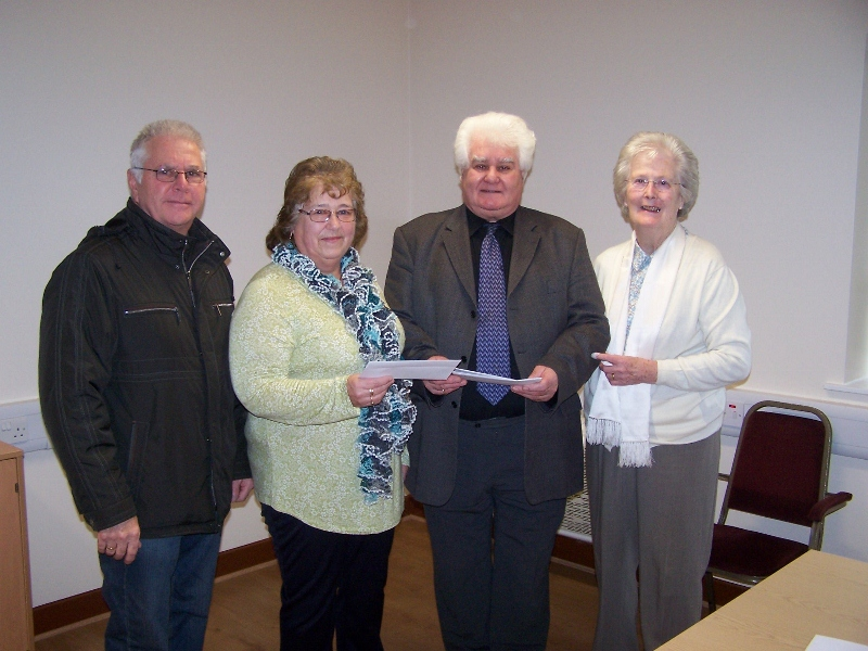 Collecting the grant cheque for the Kurl