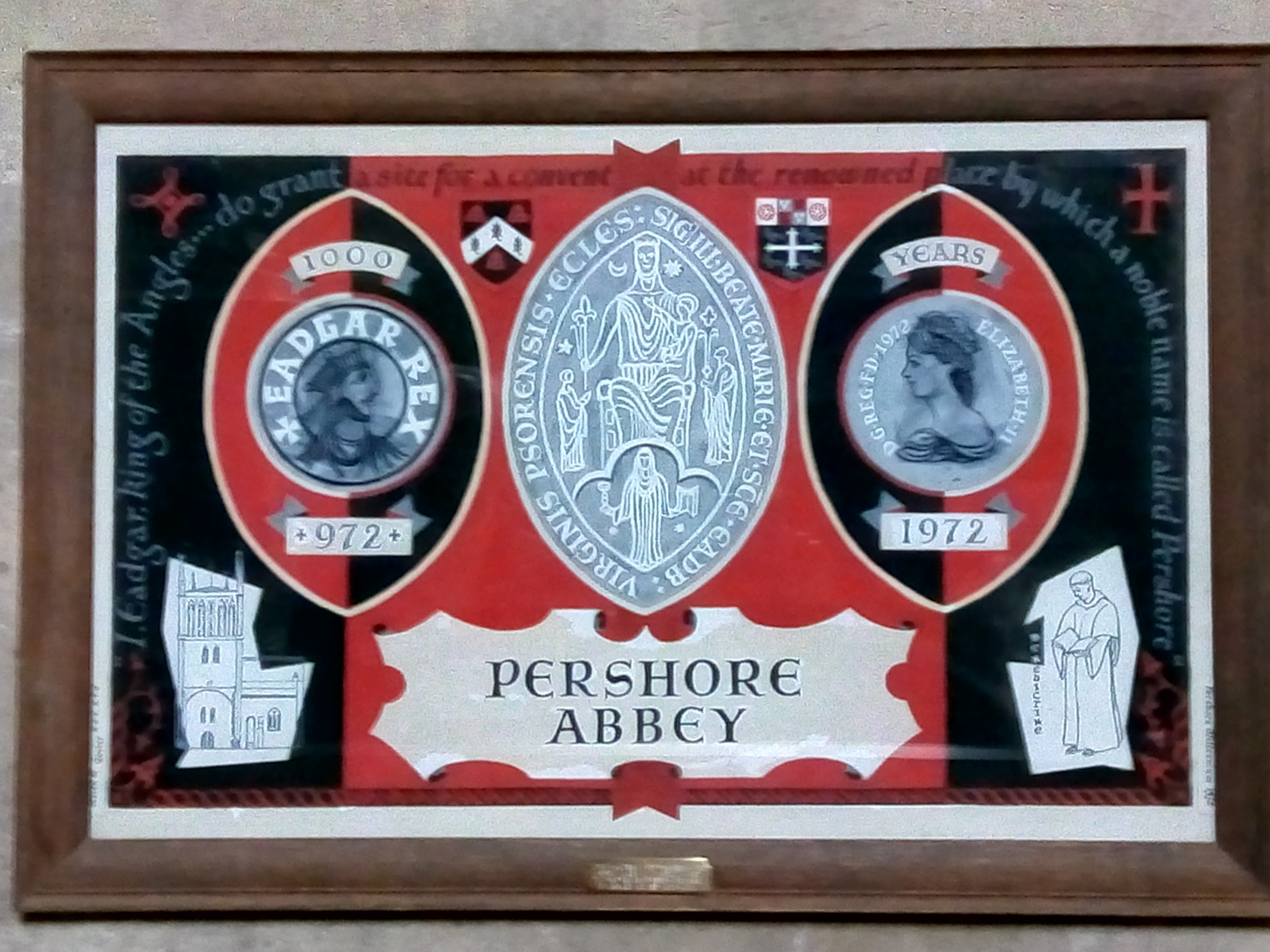 Pershore Abbey Plaque