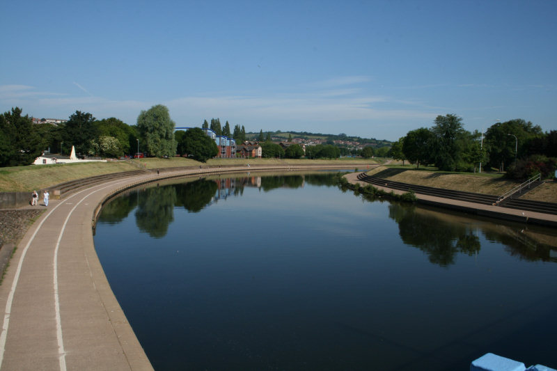 A Calm Summer Morning by the River Exe
