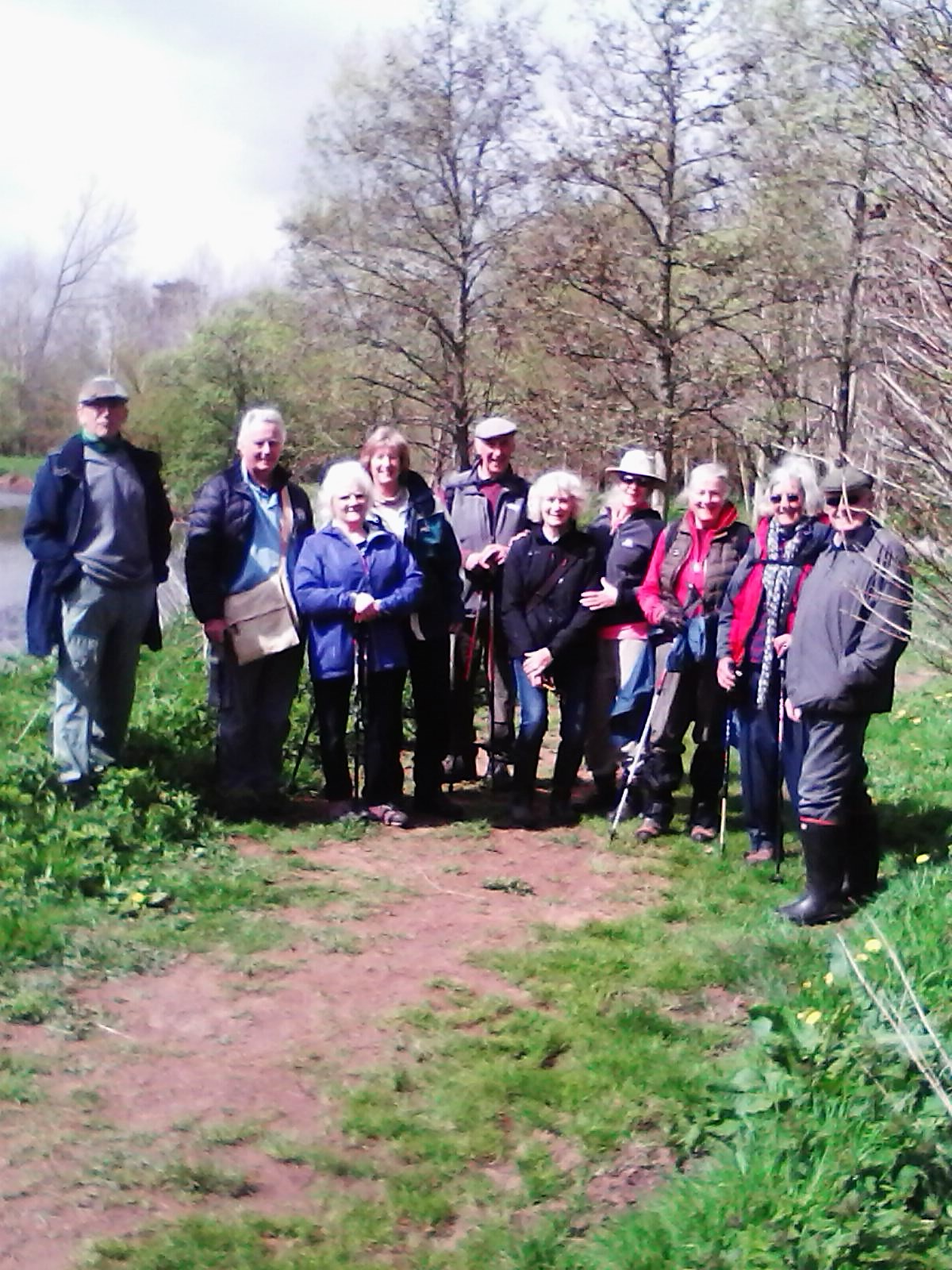 Rambling Group near the River Culm
