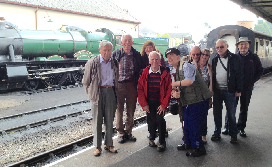 Transport Group arrive at Minehead