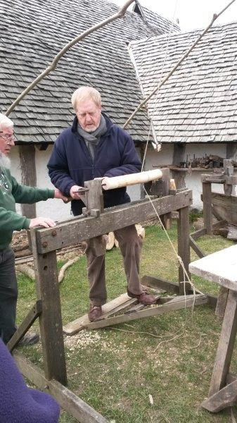 Len at the Ancient Technology Centre