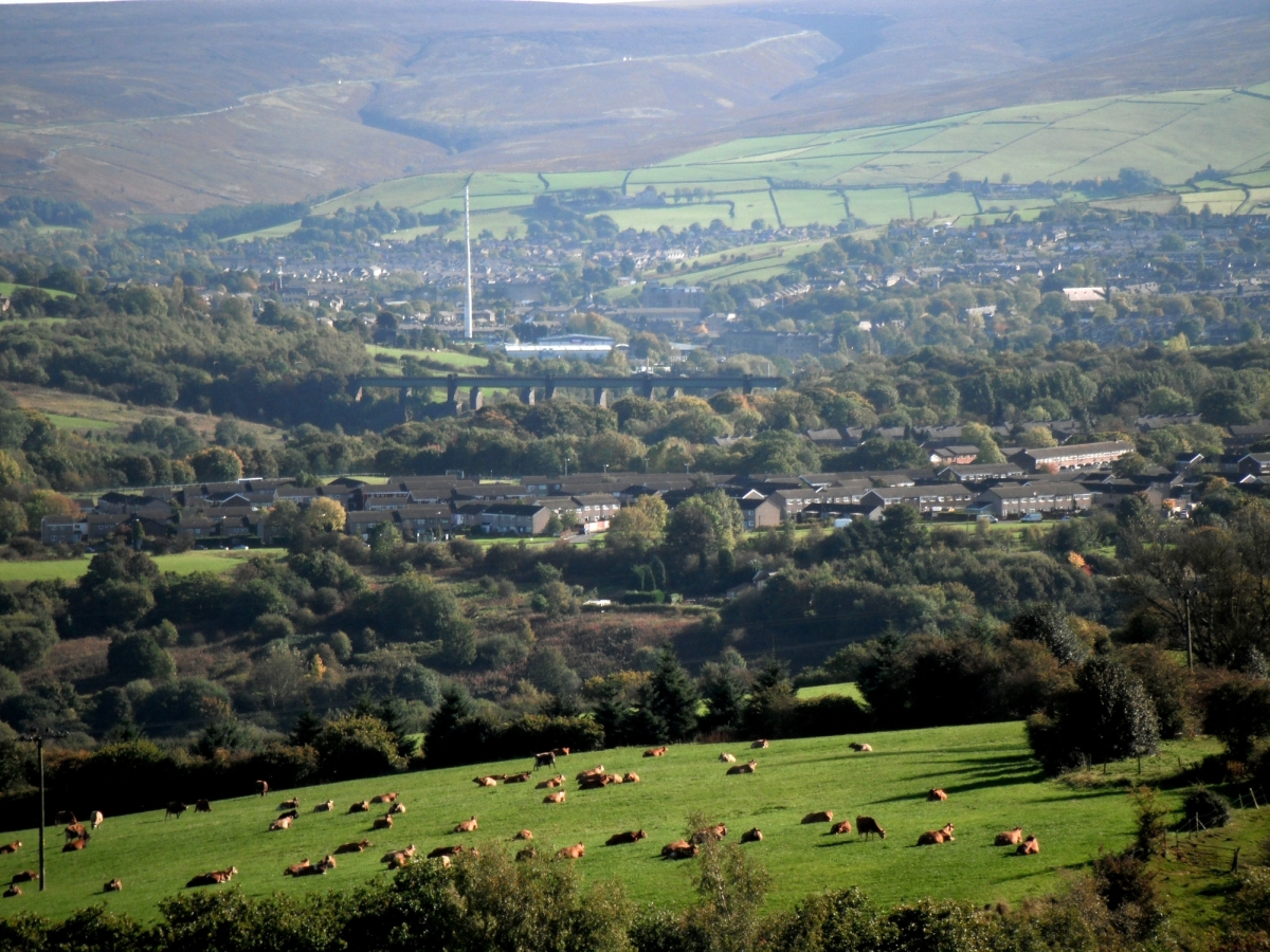 Glossop View from Mottram Church