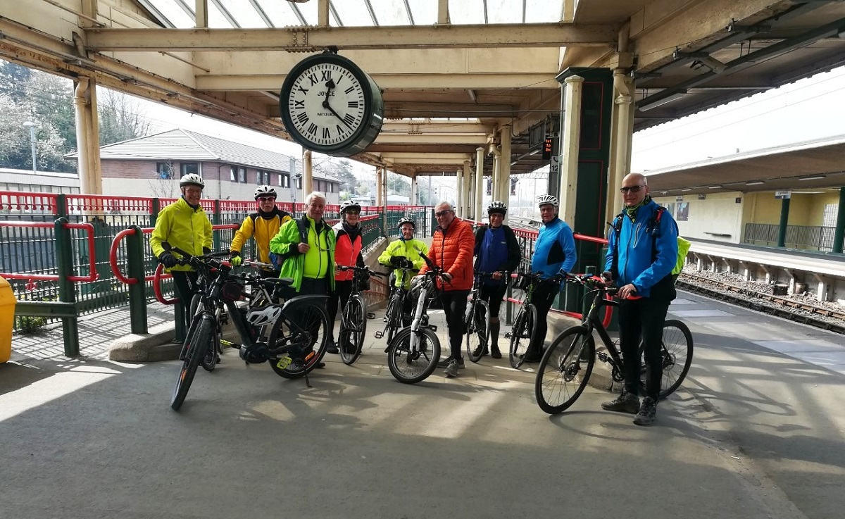 Cycle group at Carnforth Station 04/19