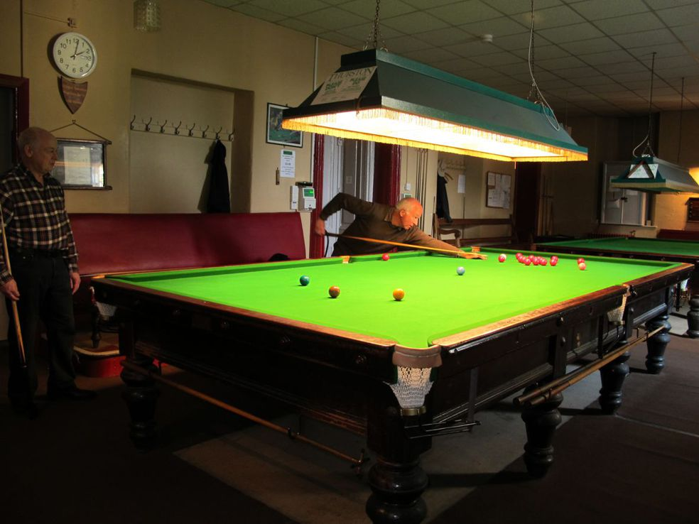 Snooker in the Institute
