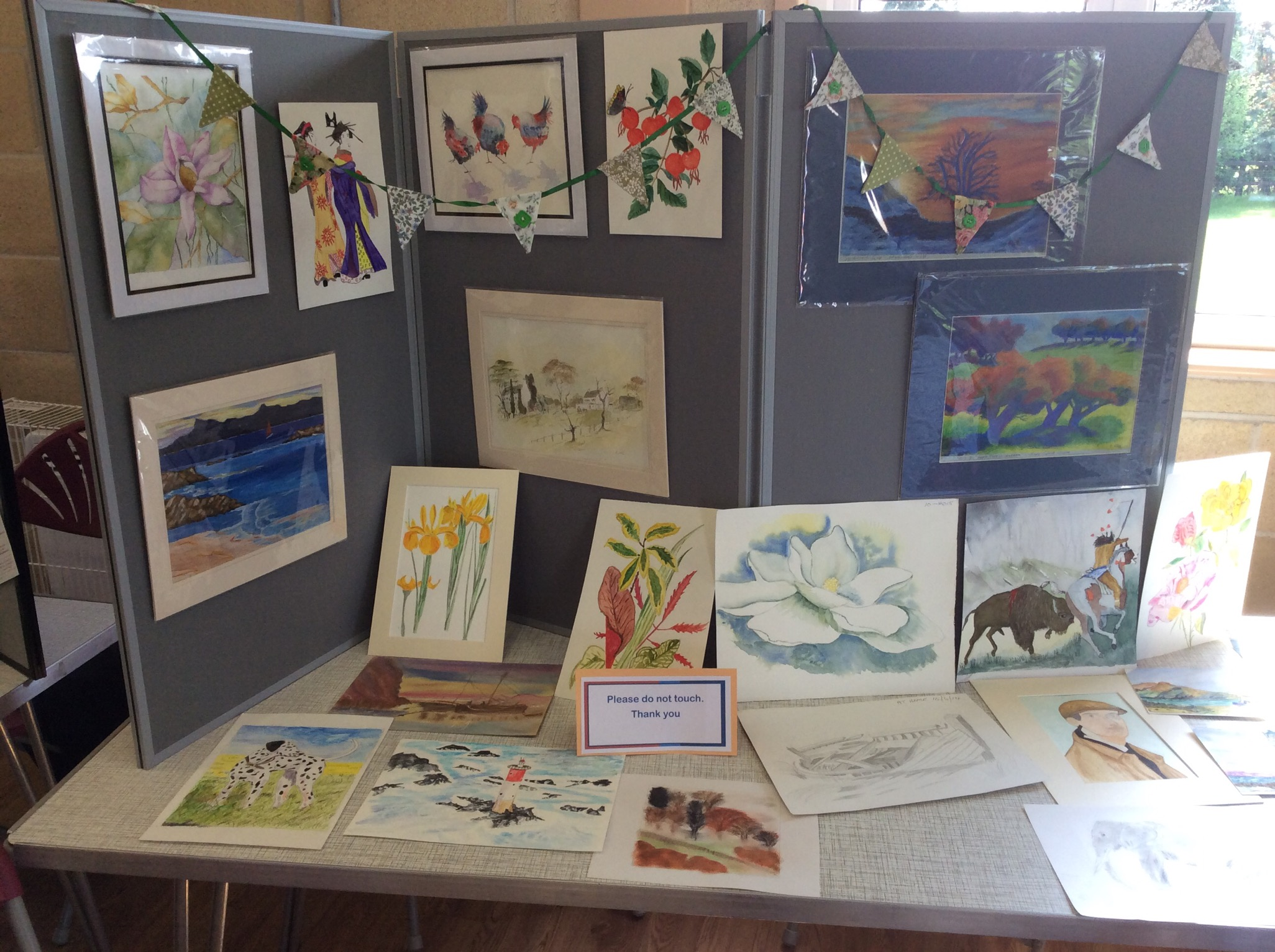 Art group table at the open day2016