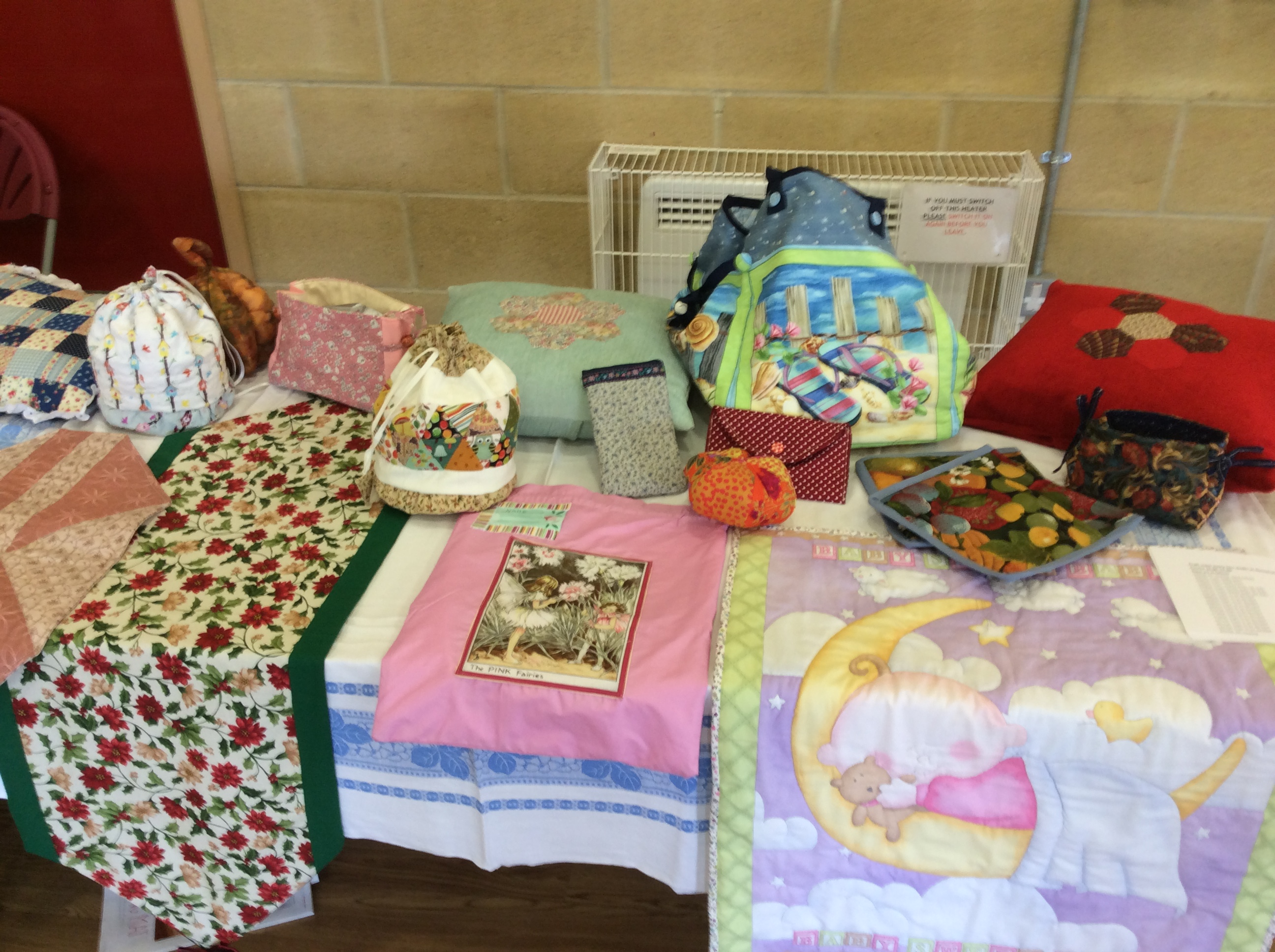 Craft and sewing table at open day 2016