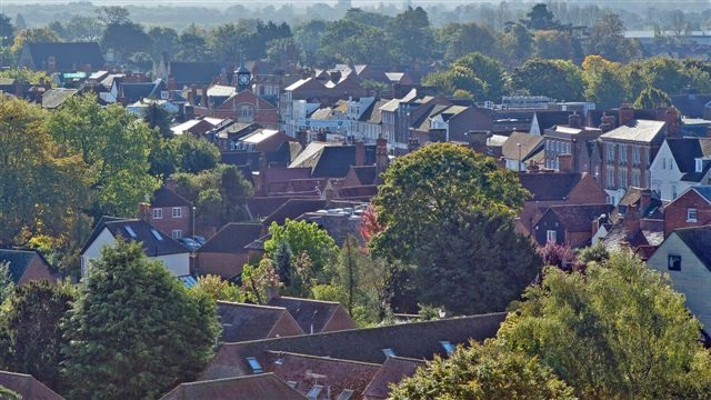 Thame aerial view