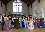 """Dancers in costume at a """"Playford"""" Ball"""
