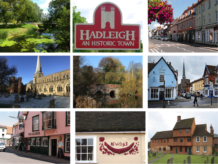 Views of the delightful town of Hadleigh