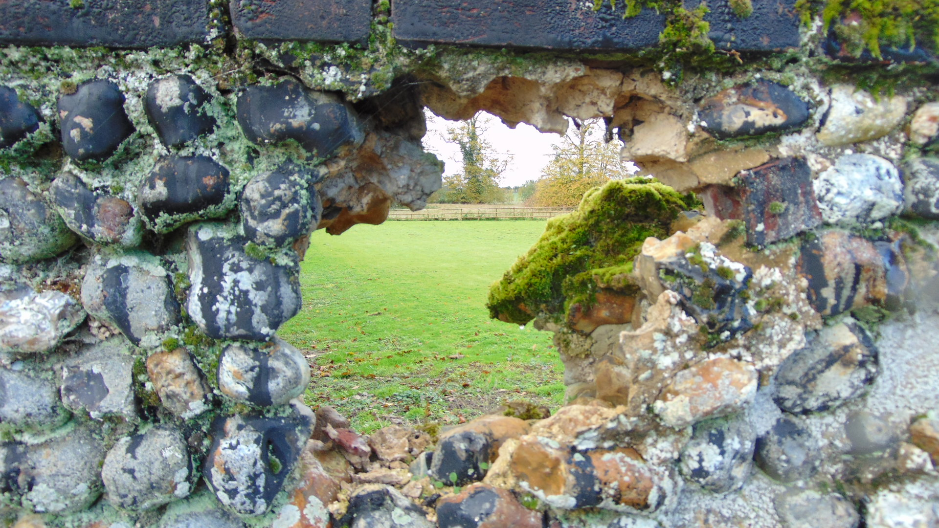 Flint wall Long Melford