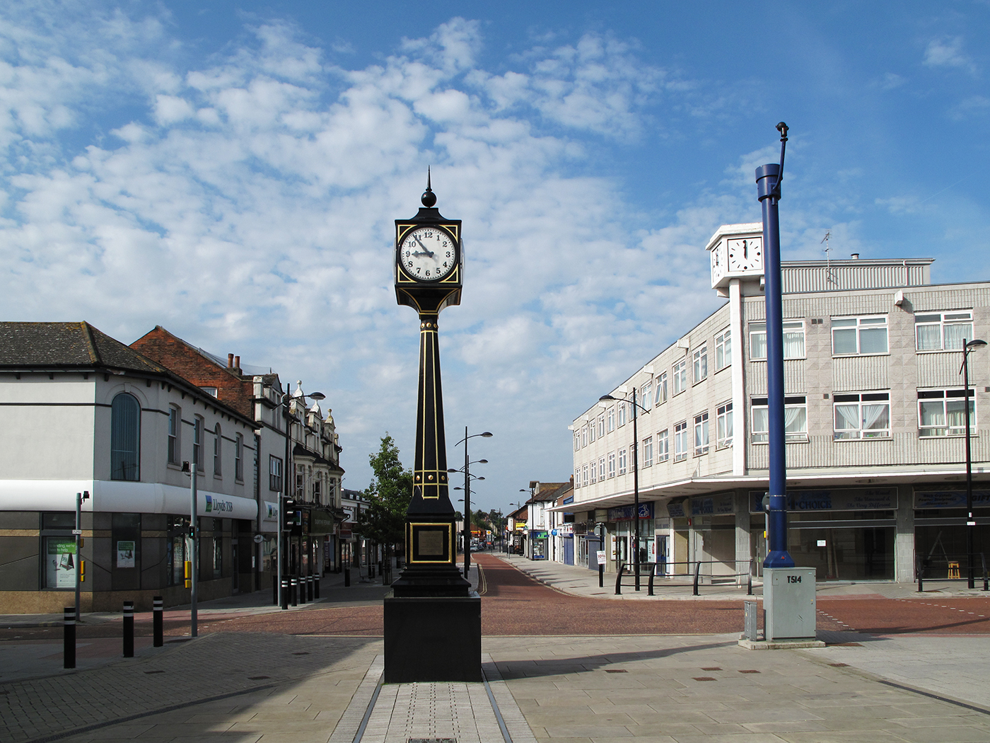 The clock at Waterlooville