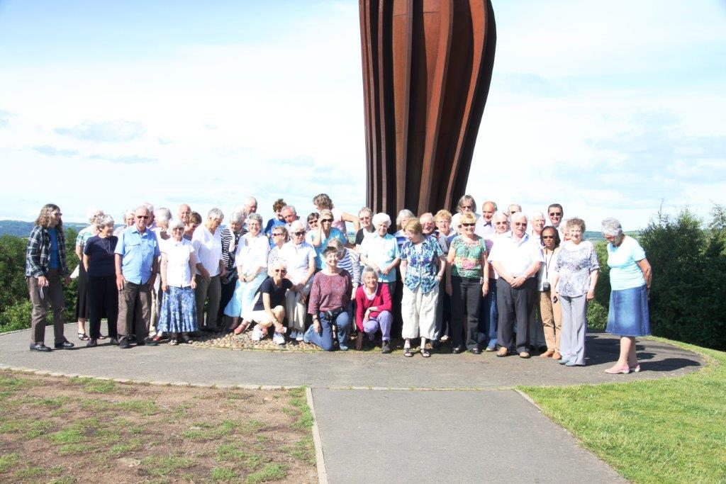 Group at Angel of the North June 201