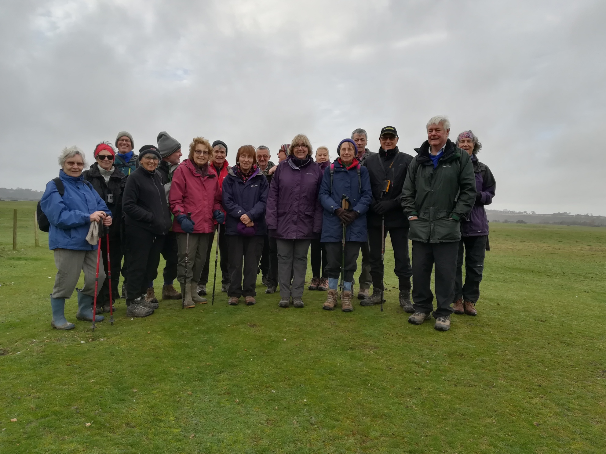 Walking group, near Rye Harbour