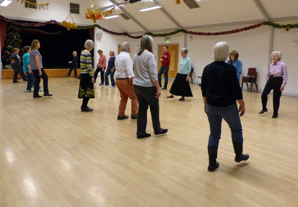 Line-dancers at Bedhampton Social Hall