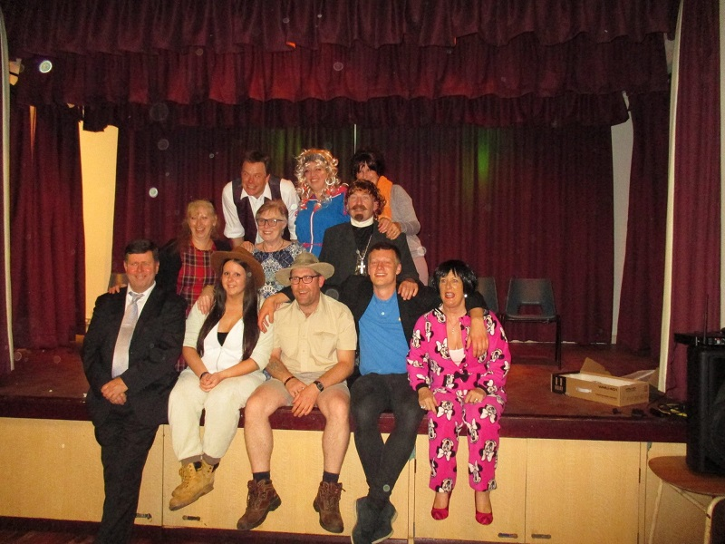 Cast of murder mystery play May 2017