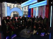 Sitting in the One Show studio