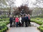 Touring the gardens in Bloomsbury