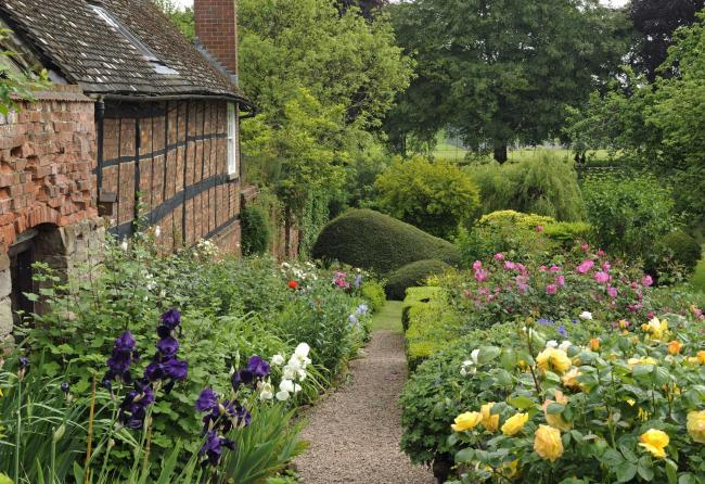 Hereford Cathedral garden