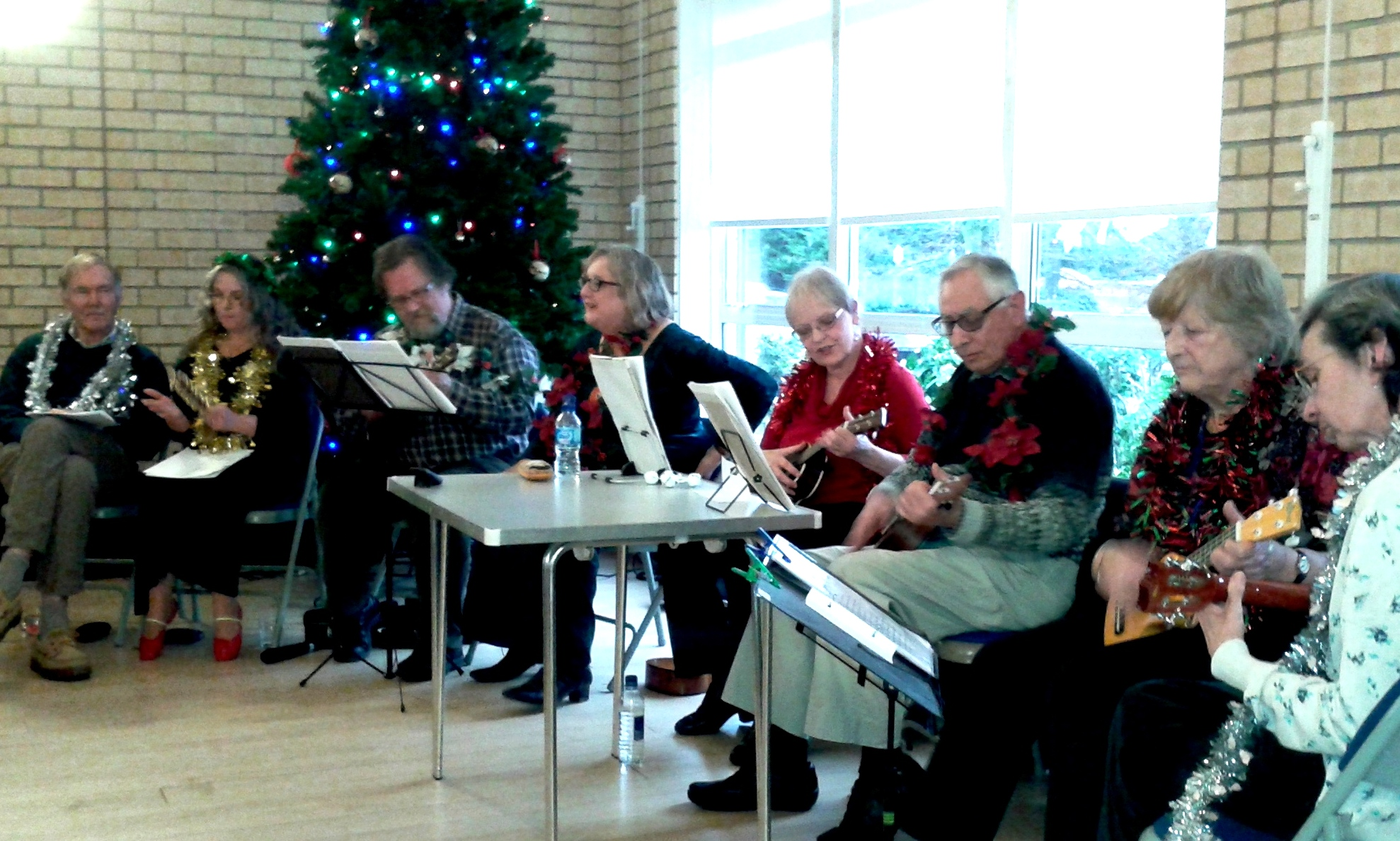 Ukulele Group entertain us at Christmas