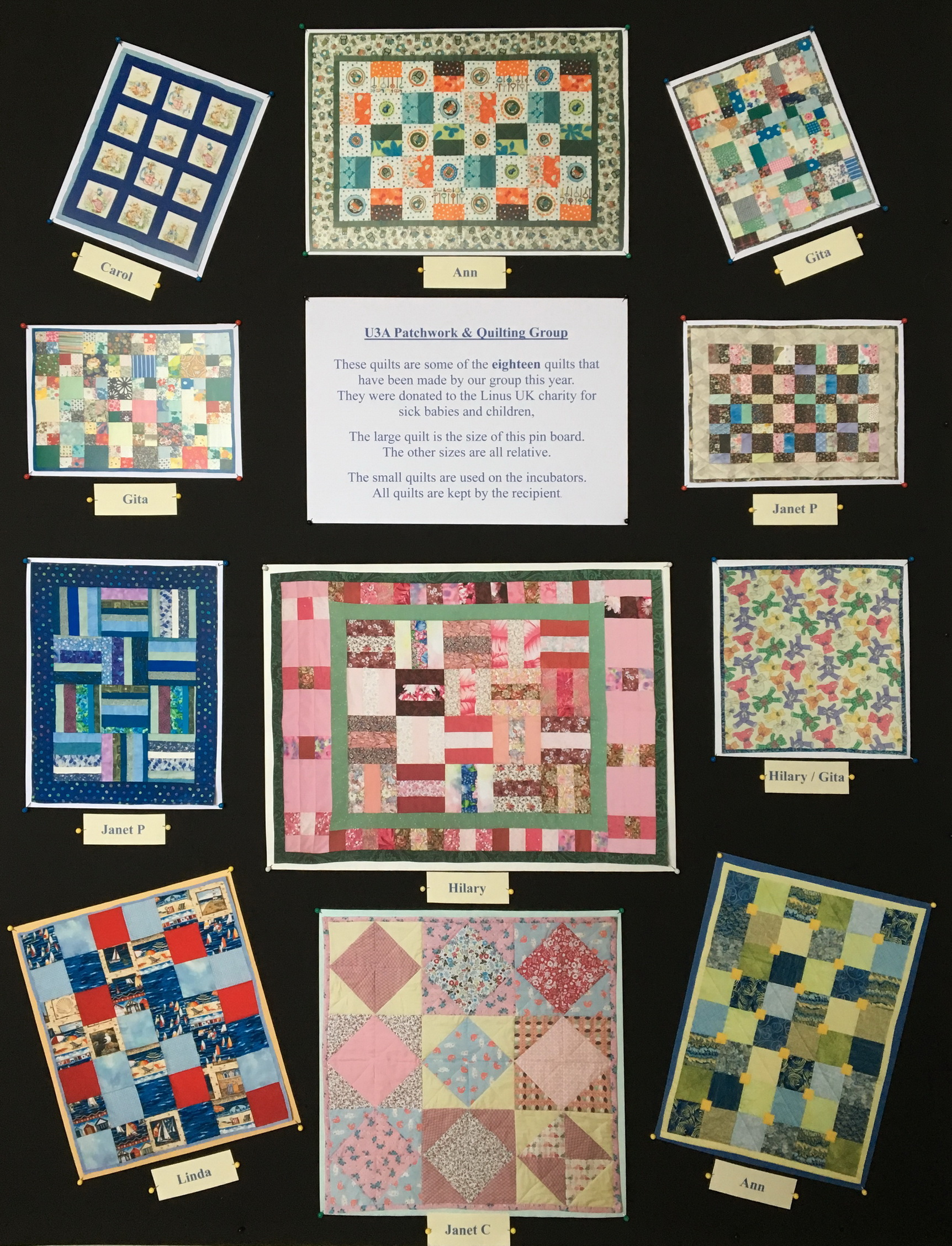 Linus Quilts 2018