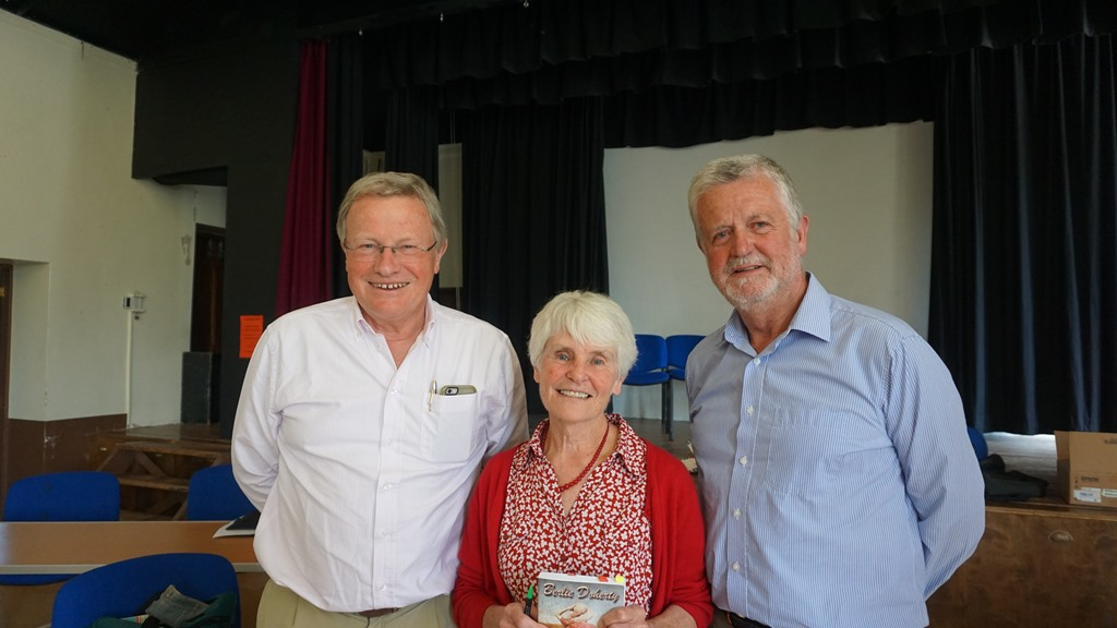 Berlie Doherty with chairmen at the AGM