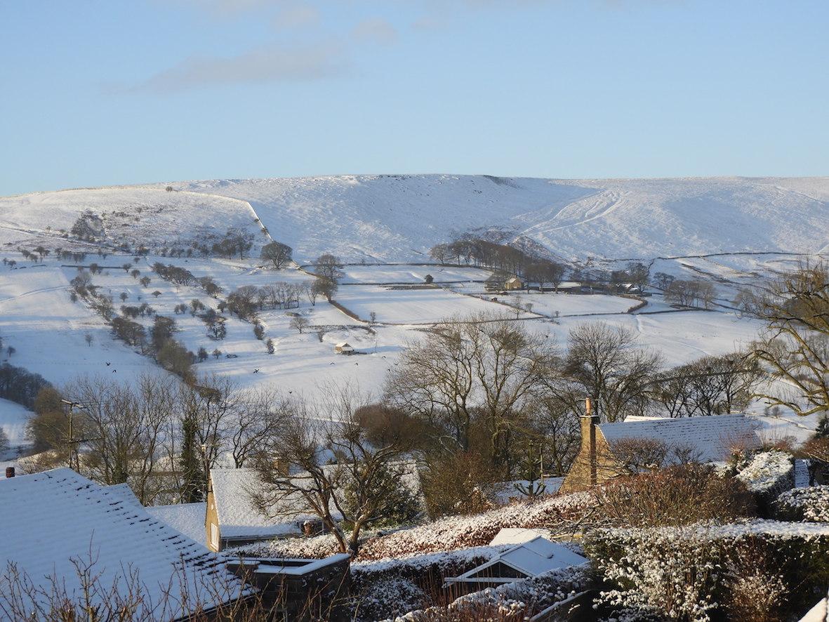 Fresh snow, dawn, Offerton