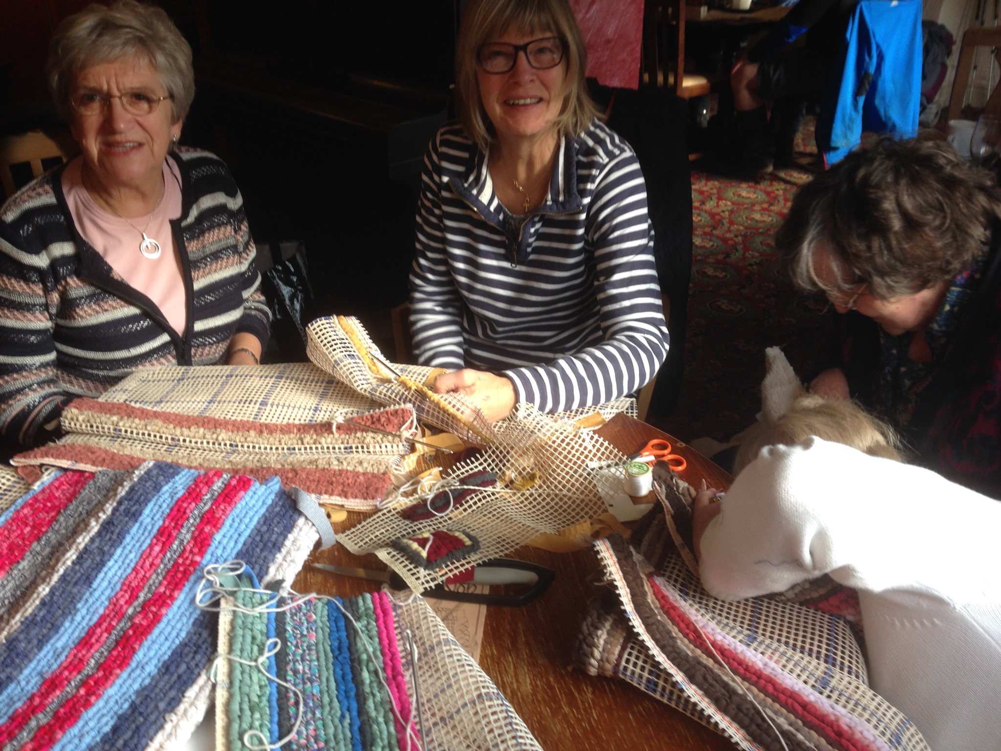 Making rag rugs March 2017