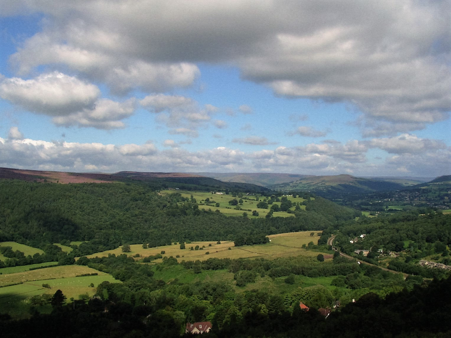 Hope Valley from Tumbling Hill, Longshaw