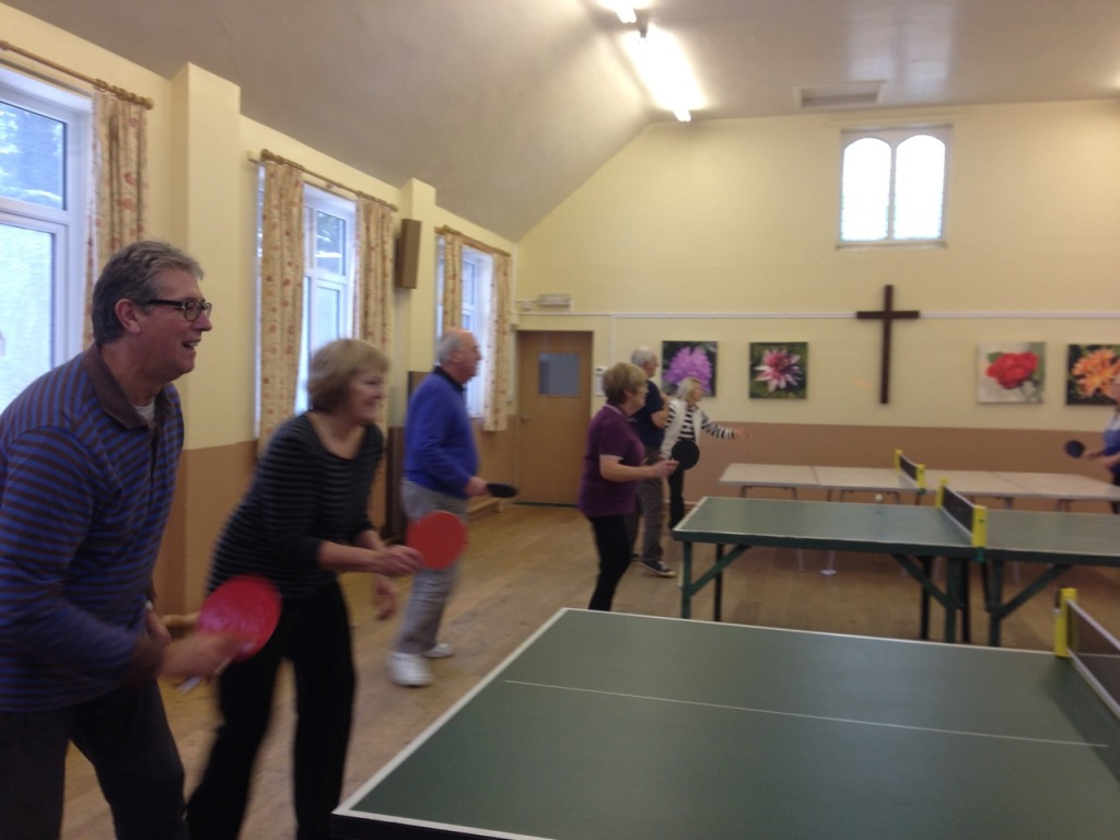 Table Tennis group in action, 21/01/2015
