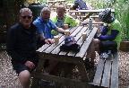 Tea break at Blackwell Mill.