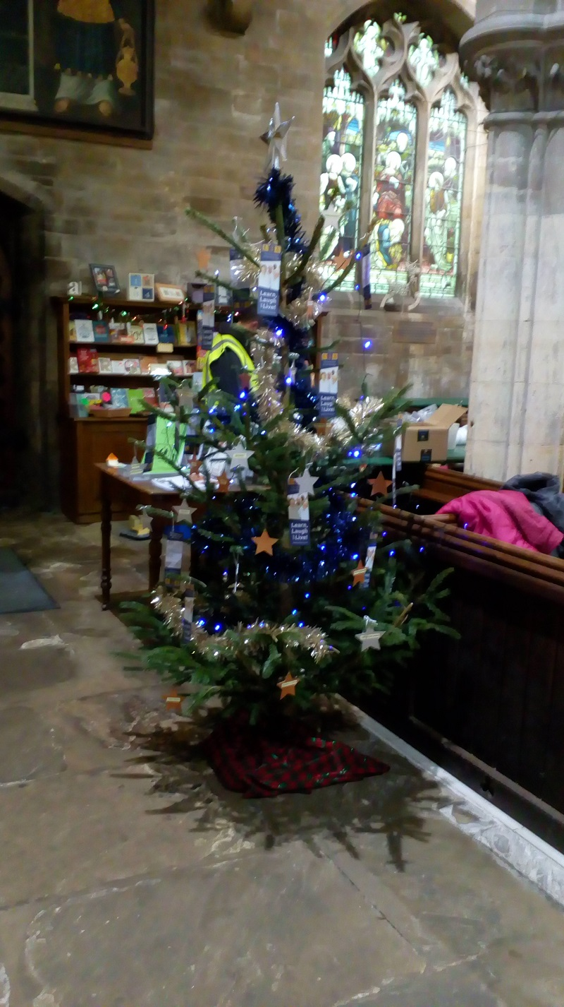 Christmas tree in Church
