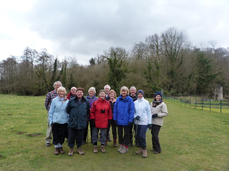 The Walking Group near Roche Abbey