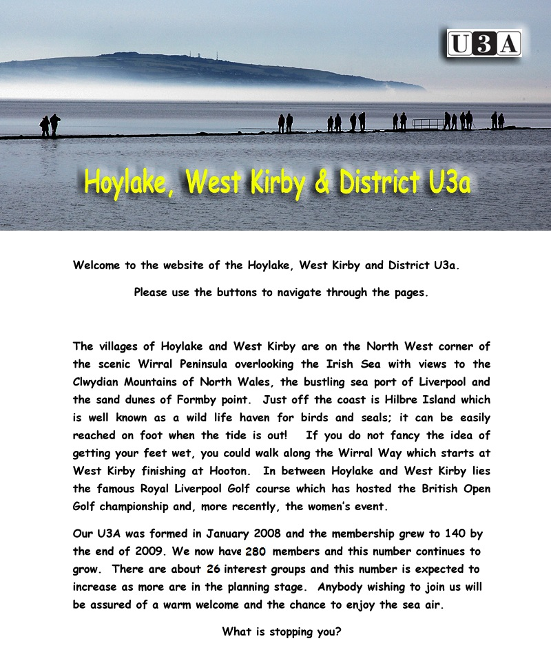 Hoylake, West Kirby & District U3A