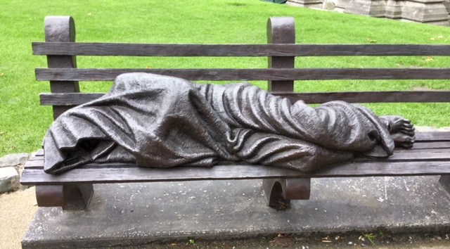 Homeless Christ depicted in Dublin